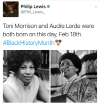 Lorde, Target, and Tumblr: Philip Lewis  @Phil_Lewis  Toni Morrison and Audre Lorde were  both born on this day, Feb 18th.  newwavefeminism:Gotta post some quotes from these genius, influential black women! some truly great women right here