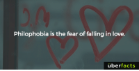 *Tear*: Philophobia is the fear of falling in love.  uber  facts *Tear*