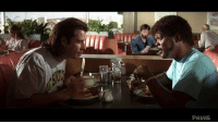 Breakfast, Sad, and Wanted: PHINS <p>All Sad Keanu wanted was a little breakfast.  Then Jules &amp; Vincent Vega walked in…</p> <p>Submitted by phinsphotopia</p>