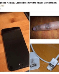 Funny, Iphone, and Phone: phone 7 32 gig. Locked but I have the finger. More info pm  189 iPhone X for sale locked but I still have the face