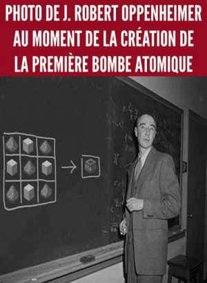 premiere: PHOTO DE J, ROBERT OPPENHEIMER  AU MOMENT DE LA CREATION DE  LA PREMIERE BOMBE ATOMIQUE