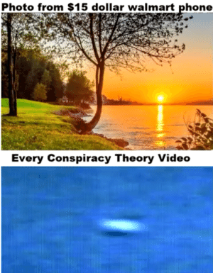 Dank, Memes, and Phone: Photo from $15 dollar walmart phone  Every Conspiracy Theory Video Plane spotted in sky by peteroprea06 MORE MEMES