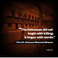United States Holocaust Memorial Museum calls out Trump's white-nationalists: http://bit.ly/2gDazKS: photo: jechstar/Flickr  The Holocaust did not  begin with killing;  it began with words  The s. Holocaust Memorial Museum  CREDO United States Holocaust Memorial Museum calls out Trump's white-nationalists: http://bit.ly/2gDazKS