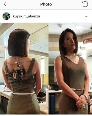 News, Suicide, and Photo: Photo  kuyakim atienza Being a news anchor makes you look like a suicide bomber from behind