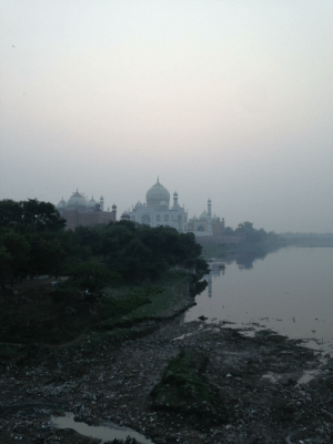 Photo of the trash-filled river RIGHT next to the Taj Mahal. We need to get our act togethor and stop littering: Photo of the trash-filled river RIGHT next to the Taj Mahal. We need to get our act togethor and stop littering