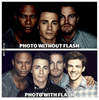 Dank, 🤖, and Flash: PHOTO WITHOUT FLASH  PHOTO WITH FLASH That was FAST! http://9gag.com/gag/adYwn99?ref=fbp