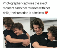 Head, Black, and Hair: Photographer captures the exact  moment a mother reunites with her  child, their reaction is priceless 2020. The doors of the Hawkins nursing home explode open, a demogorgon head tumbles inside, stopping short at the feet of who's hair suggests is STEVE HARRINGTON. The silhouette of a pudgy, short figure stands at the entrance, a familiar voice calls out. Dustin: You just gonna sit there & die Harrington.. OR ARE WE GONNA DEMO-DO THIS *Cut to black* STRANGER THINGS: RELOADED