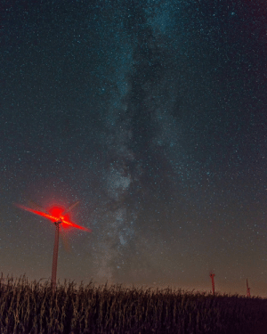 Chicago, Tumblr, and Blog: photos-of-space:  A wind turbine farm outside of Chicago [2087 x 2608] [OC]