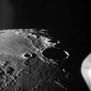 Tumblr, Apollo, and Blog: photos-of-space:  An Apollo 11 oblique view of the large crater Theophilus located at the northwest edge of the Sea of Nectar on the lunar nearside [4096 x 4096]