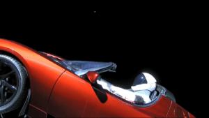 Tumblr, Blog, and Live: photos-of-space:  I probably spotted the Moon in Starman live-stream video