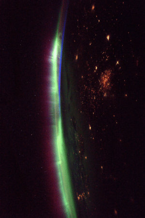Tumblr, Blog, and Space: photos-of-space:  Intense auroras seen from the ISS by ESA astronaut Thomas Pesquet [3292 x 4940]