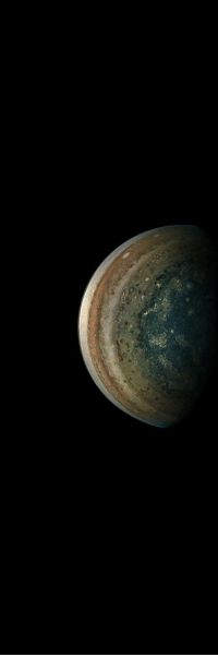 Tumblr, Blog, and Jupiter: photos-of-space:  Jupiter in the Rearview Mirror [1800 x 5399]