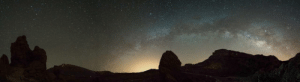 Tumblr, Blog, and Pictures: photos-of-space:  Milky Way in the caldera of the volcano Teide, Tenerife. A composition of 4 pictures. [4000 × 1092] [OC]