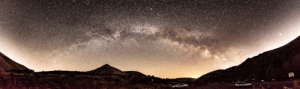 photos-of-space:  Milky Way nestled between the light pollution generated by Ellensburg and Yakima, WA. [OC][2048 x 605]: photos-of-space:  Milky Way nestled between the light pollution generated by Ellensburg and Yakima, WA. [OC][2048 x 605]