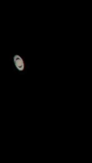 Iphone, Tumblr, and Blog: photos-of-space:  My shot of Saturn through a telescope with my iPhone.