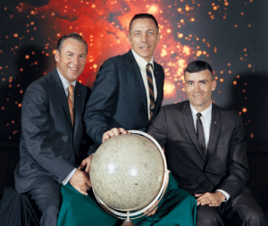 """Nasa, Tumblr, and Apollo: photos-of-space:  Official NASA photograph of the prime crew for the Apollo 13 lunar landing mission: commander James Lovell, command module pilot John """"Jack"""" Swigert, lunar module pilot Fred Haise (1970). [6462 × 5440]"""