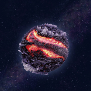 photos-of-space:  Planetary figure created using 3d modeling and a photograph of lava, the rest drawn in photoshop: photos-of-space:  Planetary figure created using 3d modeling and a photograph of lava, the rest drawn in photoshop