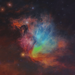 Nasa, Tumblr, and Blog: photos-of-space:  The Pleaides Star Cluster/M45/the Seven Sisters in Infrared (R=24, G=12, B=4.6 microns). It spans about 20 light-years in the constellation of the Bull(Taurus) credit:NASA, WISE, IRSA.