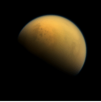 Tumblr, Blog, and Space: photos-of-space:  Titan, as seen by the probe Cassini in October 7th, 2013 [1024x1024]