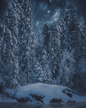 Tumblr, Blizzard, and Blog: photos-of-space:  Viridian Blizzard, Yosemite NP [OC] [Composite] [1350x1080]