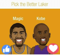 Memes, Kobe, and Magic: Pick the Better Laker  Magic  Kobe #RockoMamba24 #WWLG4L