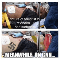 "Memes, 🤖, and Commons: Picture of terrorist i  London  has surfaced  MEANWHILE ON CNN. So, another mass murder occurred in 'multicultural' Europe. Another Muslim terrorist committed another terror attack, everything's clear and nothing to discuss here. We can clearly see what the open border policy can turn a civilized country into. And the left still want us to open OUR borders to terrorists! When will people start listening to common sense? How many people have to die before these liberal idiots open their eyes and start thinking about national security? How many Americans have to die before it happens? How many members of YOUR family? The most disgusting thing is that we won't hear a single word from liberal media about the terrorist's religion or background. For them it's just another case that ""has nothing to do with Islam"". Trump's travel ban should be embodied as soon as possible, before it's too late. Congressmen who oppose Trump's national security policy should never be re-elected. patriots americanpatriots politics conservative libertarian patriotic republican usa america americaproud peace nowar wethepeople patriot republican freedom secondamendment MAGA PresidentTrump"