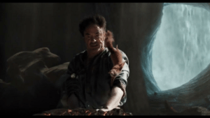 Pictured: Robert Downey Jr. desperately searching for his paycheck in Dolittle (2019): Pictured: Robert Downey Jr. desperately searching for his paycheck in Dolittle (2019)