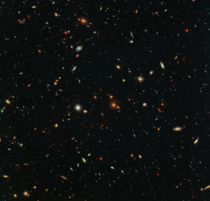 pictures-of-space:    Hubble Sees a Legion of Galaxies Peering deep into the early universe, this picturesque parallel field observation from the NASA/ESA Hubble Space Telescope reveals thousands of colorful galaxies swimming in the inky blackness of space. A few foreground stars from our own galaxy, the Milky Way, are also visible. : pictures-of-space:    Hubble Sees a Legion of Galaxies Peering deep into the early universe, this picturesque parallel field observation from the NASA/ESA Hubble Space Telescope reveals thousands of colorful galaxies swimming in the inky blackness of space. A few foreground stars from our own galaxy, the Milky Way, are also visible.