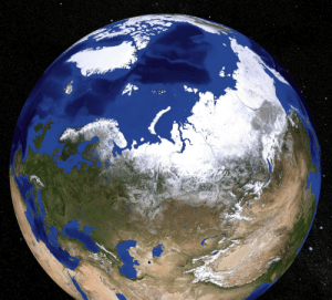pictures-of-space:    North Pole This image shows the Arctic. The North Pole is in the middle of the Arctic Ocean. The Arctic Ocean is surrounded by Alaska, Canada, Greenland, and Russia. The ocean is 4000 meters deep. Although it is an ocean, it is water you can walk on. There are 2-3 meter thick ice floes floating on the water at the North Pole. In summer the temperatures are near 0 centigrade and there is light. In winter the temperature is about -30 centigrade and it is dark.   For more information visit our webpage here    : pictures-of-space:    North Pole This image shows the Arctic. The North Pole is in the middle of the Arctic Ocean. The Arctic Ocean is surrounded by Alaska, Canada, Greenland, and Russia. The ocean is 4000 meters deep. Although it is an ocean, it is water you can walk on. There are 2-3 meter thick ice floes floating on the water at the North Pole. In summer the temperatures are near 0 centigrade and there is light. In winter the temperature is about -30 centigrade and it is dark.   For more information visit our webpage here