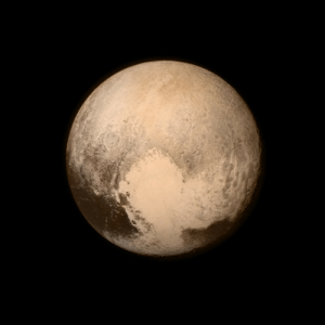 pictures-of-space:    Pluto - as seen by New Horizons  Pluto nearly fills the frame in this image from the Long Range Reconnaissance Imager (LORRI) aboard NASA's New Horizons spacecraft, taken on July 13, 2015, when the spacecraft was 476,000 miles (768,000 kilometers) from the surface. This is the last and most detailed image sent to Earth before the spacecraft's closest approach to Pluto on July 14. The color image has been combined with lower-resolution color information from the Ralph instrument that was acquired earlier on July 13.  For more information visit our webpage here   : pictures-of-space:    Pluto - as seen by New Horizons  Pluto nearly fills the frame in this image from the Long Range Reconnaissance Imager (LORRI) aboard NASA's New Horizons spacecraft, taken on July 13, 2015, when the spacecraft was 476,000 miles (768,000 kilometers) from the surface. This is the last and most detailed image sent to Earth before the spacecraft's closest approach to Pluto on July 14. The color image has been combined with lower-resolution color information from the Ralph instrument that was acquired earlier on July 13.  For more information visit our webpage here