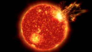 Complex, Energy, and Life: pictures-of-space:    Solar Storms May Have Been Key to Life on Earth   Our sun's adolescence was stormy—and new evidence shows that these tempests may have been just the key to seeding life as we know it. Some 4 billion years ago, the sun shone with only about three-quarters the brightness we see today, but its surface roiled with giant eruptions spewing enormous amounts of solar material and radiation out into space. These powerful solar explosions may have provided the crucial energy needed to warm Earth, despite the sun's faintness. The eruptions also may have furnished the energy needed to turn simple molecules into the complex molecules such as RNA and DNA that were necessary for life. The research was published in Nature Geoscience on May 23, 2016, by a team of scientists from NASA. (by   NASA's Marshall Space Flight Center)
