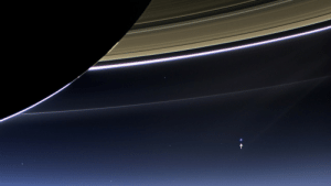 pictures-of-space:    View of Earth from Saturn In this rare image taken on July 19, 2013, the wide-angle camera on NASA's Cassini spacecraft has captured Saturn's rings and our planet Earth and its moon in the same frame. It is only one footprint in a mosaic of 33 footprints covering the entire Saturn ring system (including Saturn itself). At each footprint, images were taken in different spectral filters for a total of 323 images: some were taken for scientific purposes and some to produce a natural color mosaic. This is the only wide-angle footprint that has the Earth-moon system in it. Image Credit: NASA/JPL-Caltech/Space Science Institute : pictures-of-space:    View of Earth from Saturn In this rare image taken on July 19, 2013, the wide-angle camera on NASA's Cassini spacecraft has captured Saturn's rings and our planet Earth and its moon in the same frame. It is only one footprint in a mosaic of 33 footprints covering the entire Saturn ring system (including Saturn itself). At each footprint, images were taken in different spectral filters for a total of 323 images: some were taken for scientific purposes and some to produce a natural color mosaic. This is the only wide-angle footprint that has the Earth-moon system in it. Image Credit: NASA/JPL-Caltech/Space Science Institute