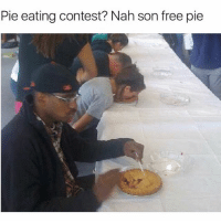 Fall, Memes, and Free: Pie eating contest? Nah son free pie Y'all go comment on @bpaceproduction 's recent until your thumbs fall off so he can drop that heat 🔥