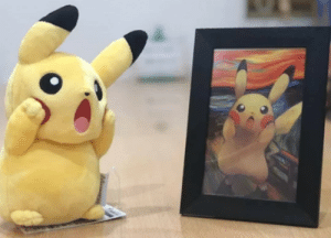 Pikachu, Munch, and Edward: Pikachu, by Edward Munch.