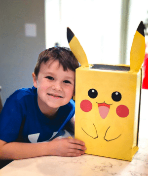 Pikachu Valentine's box that I made for my son: Pikachu Valentine's box that I made for my son