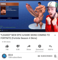 """long dick: PIMPIN  Outfit  long dick style.  part of the Deuche1000 set  OWNEDノ  e party  4 PM Party: Handsome Heckle left the  rt  bal Hold to chat  *LEAKED"""" NEW EPIC & RARE SKINS COMING TO  FORTNITE (Fortnite Season 4 Skins)  ▼  4.1M views  74K  Share Download Add to  @lilcumtowel  6.8K  Ali-A  13M subscribers  SUBSCRIBED"""