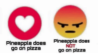 Let's settle this once for all: Pineapple does  Pineapple does  NOT  go on pizza  go on pizza Let's settle this once for all