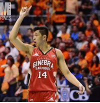 Miguel, Filipino (Language), and Ginebra: PINES  ole  SAN MIGUEL  14  A How many likes for Kevin Ferrer? 🔥🔥🔥