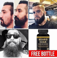 The best beard growth products and Daily beard tips! @beardsczar is the only page that helps you grow your beard! Follow @beardsczar and claim your free products in their bio! I've used my Man Card to get a few discounts on their other products! @beardsczar actually filled my beard in🙏😎: PINI  OER  2  BEARD  CZAR  FACIAL HAIR COMPLEX  FREE BOTTLE The best beard growth products and Daily beard tips! @beardsczar is the only page that helps you grow your beard! Follow @beardsczar and claim your free products in their bio! I've used my Man Card to get a few discounts on their other products! @beardsczar actually filled my beard in🙏😎