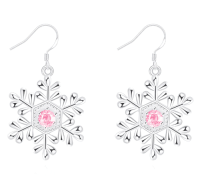 God, Savage, and Target: pinklilies:snowflake earrings god damn, rose shattered pink diamond and made her into earrings? what a savage