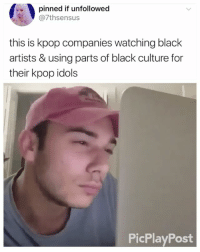 Memes, Black, and Black Culture: pinned if unfollowed  @7thsensus  this is kpop companies watching black  artists & using parts of black culture for  their kpop idols  PicPlayPost WHERE'S THE LIE . . . . Credit to owner✌