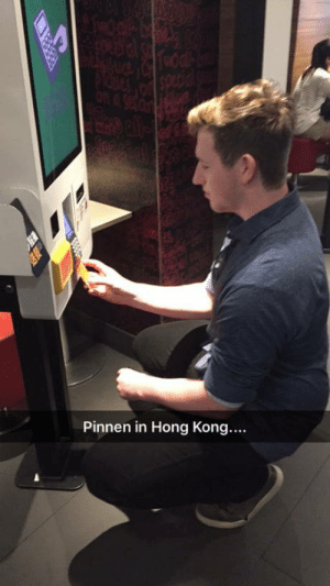 Food, Hong Kong, and Netherlands: Pinnen in Hong Kong.... So i was on holiday in hong kong and went to macdonalds i am from the netherlands and im 194cm metric for the win and apperently in hong kong to pay you need to be smaller then 60cm food was nice tho