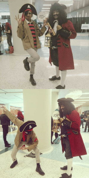 tampire:    Matthew Patel finally meets his longtime favorite Pirate Idol Captain Hook, because well… Pirates are in this year!  Mat Patel is cosplayed by MeCaptain Hook is cosplayed by @toronto_dadpoolSeries: Scott Pilgrim VS. Peter Pan: PIRATES  ARE IN THIS  YEAR!  VOLUNTEER  BADGE PICK UP   PIRATES  ARE INS tampire:    Matthew Patel finally meets his longtime favorite Pirate Idol Captain Hook, because well… Pirates are in this year!  Mat Patel is cosplayed by MeCaptain Hook is cosplayed by @toronto_dadpoolSeries: Scott Pilgrim VS. Peter Pan