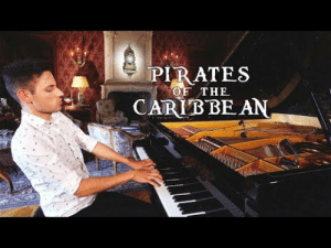 awesomage:  Pirates of the Caribbean (Piano Solo) - Peter Bence: PIRATES  CARIB BE AN  OF THE awesomage:  Pirates of the Caribbean (Piano Solo) - Peter Bence