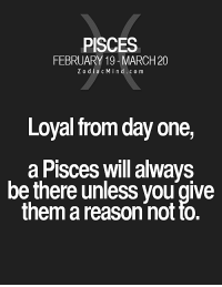 Love, Free, and Horoscope: PISCES  FEBRUARY 19-MARCH 20  Z o d i a c M i n d c o m  Loyal from day one,  a Pisces will always  be there unless you give  them a reason not to. Oct 10, 2016. Some of you will find themselves once again in the temptation of a secret love affair. They  .....FOR FULL HOROSCOPE VISIT: http://horoscope-daily-free.net/pisces