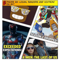 Memes, Nostalgia, and Power Rangers: PISODE 22: LOGAN, RANGERS AND VOLTRON!  OH MY!  SEASON 2 DROPPED!  EXCEEDED  EXPECTATIONS!  X-MEN THE LAST OF US [🚨 PODCAST LINK IN BIO] We're going back to the 90s in this episode of Blerd Vision: Strap on those Saturday Morning Fox nostalgia-goggles because we're reviewing Logan (X-Men), PowerRangers and Voltron Season 2 this week! -- Is Logan shaping up to be the best X-men movie to date? Will Power Rangers deliver on its fun, nostalgia-fueled promise in the trailer? And Voltron Season 2 dropped on Netflix this weekend, we give our first impressions and general thoughts on the show. -- Don't forget to subscribe to us on ITunes and leave a review! We read them aloud on the show. AND COMMENT BELOW! We'd love hearing what you guys thought of the new trailers this weekend (and Voltron S2)!