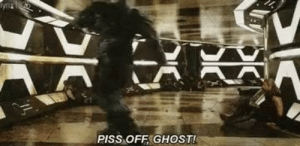 Donald Trump, Ghost, and Trump: PISS OFF GHOST! Donald Trump criticizes John McCain post mortem. (c. 2019)