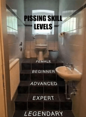 Legendary, Level, and What: PISSING SKILL  LEVELS  FEMALE  BEGINNER  ADVANCED  EXPERT  LEGENDARY Whats your level?