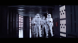 Death Star, Target, and Tumblr: pixelrey:obi-wan sneaking around the death star + the pink panther theme song