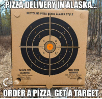 LOVE THIS!  Only In America! #iHeartAmerica 🇺🇸🇺🇸🇺🇸🇺🇸: PIZZA DELIVERY IN ALASKA  RECYCLING PIZZA BOXES ALASKA STYLE  2  3  3  4  4  4  3  4-  2  .2  EAGLE RIVER  ALEHOUSE  PALMER CITY  ALEHOUSE  320 E. Dahlia Avenue  Palmer, Alaska  S-ALES (2537)  11901 Old Glenn Highway  Eagle River. Alash  698-3000  IN  POINT USA  ORDER A PIZZA, GETATARGET LOVE THIS!  Only In America! #iHeartAmerica 🇺🇸🇺🇸🇺🇸🇺🇸